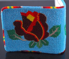 Men's Beaded Rose Wallet