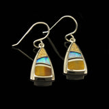 Tigers Eye and Picture Jasper Earrings