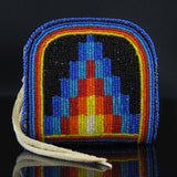 Multi-Colored Beaded Coin Purse