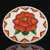 Rose Beaded Belt Buckle