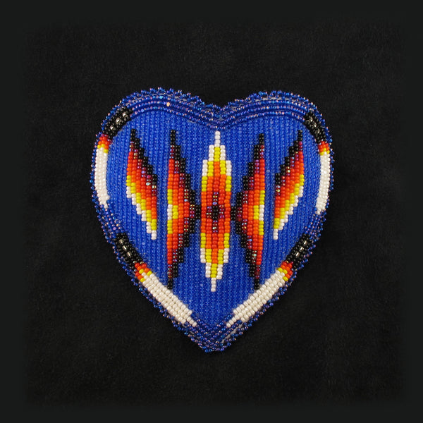 Beadwork: Heart Shaped Barrette
