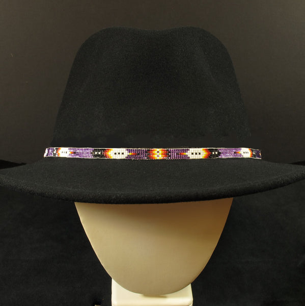 Purple Beaded Hatband