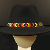 Geo-Metric Beaded Hatband