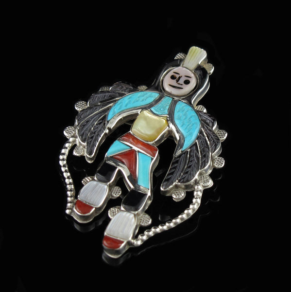Zuni Dancer Pin Pendant