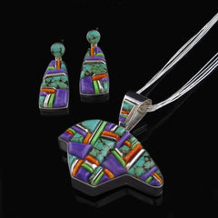 Reversible Bear Pendant Earring Set