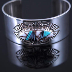 Wildhorse Inlay Navajo Bracelet