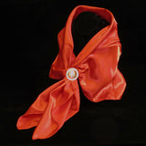 Satin Scarf Red