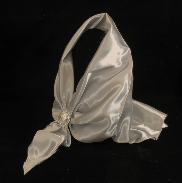 Satin Scarf Grey