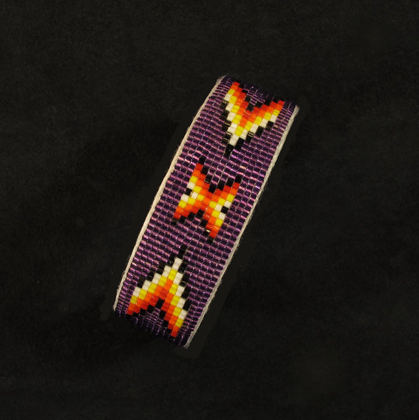 Purple Geo-Metric Beaded Bracelet