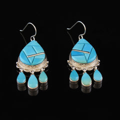 Turquoise Chandelier Earrings