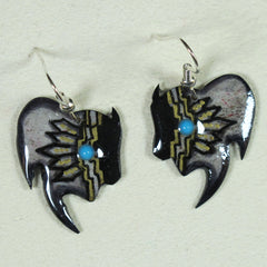 Buffalo Antler Earrings - Gray