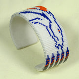 Broncos Beaded Bracelet White Native American