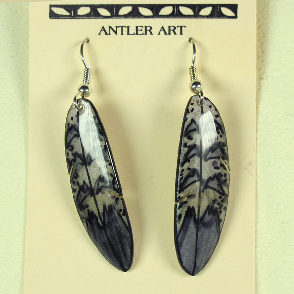Falcon Feather Earring - Grey
