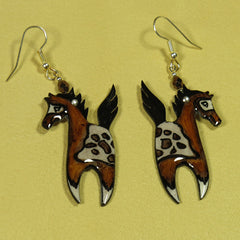 Prancing Pony Antler Earrings