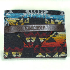 Pendleton Wallet Black - Geometric Design