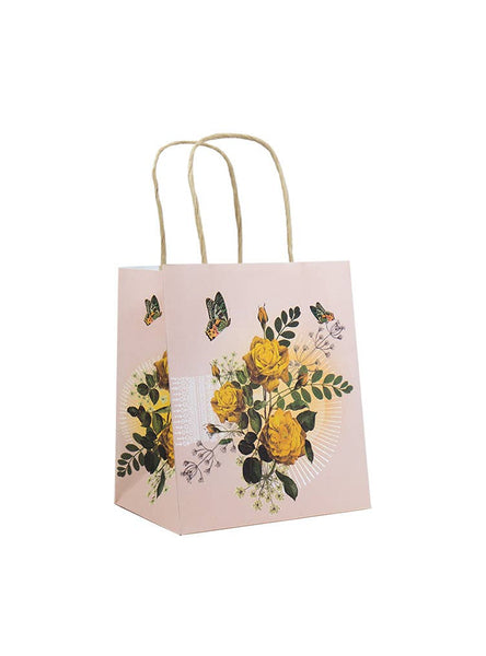 PAPAYA! - Mini Gift Bag - Yellow Roses