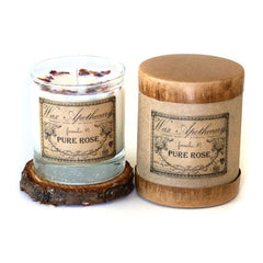 Wax Apothecary - Pure Rose Botanical Candle in Scotch Glass with Gift Box 7oz