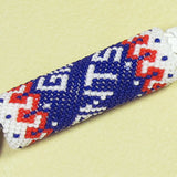 New York Giants Beaded Keychain