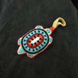 Black Beaded Turtle Amulet