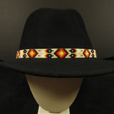 Cream Beaded Hatband