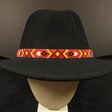 Red Beaded Hatband