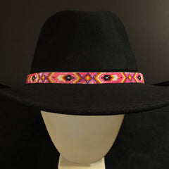 Pink Feathers Hat Band