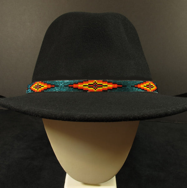 Turquoise Beaded Hatband Waci Ci Trading Co