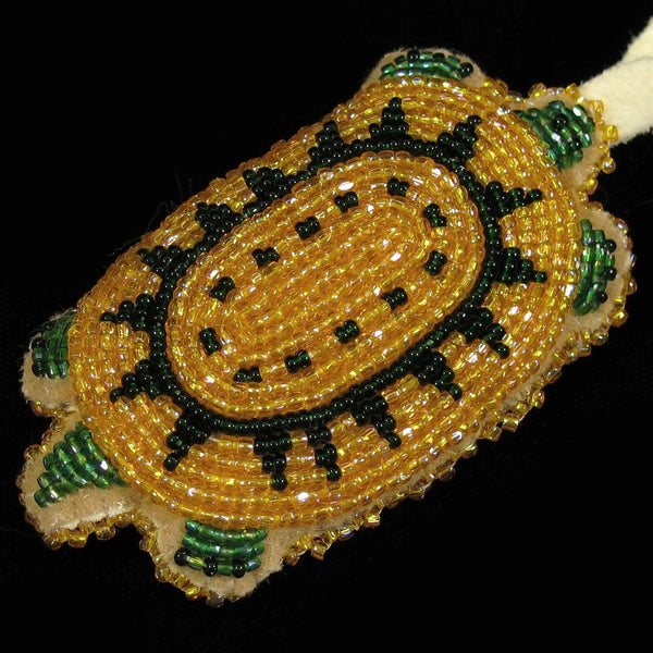 Opaque Gold Beaded Turtle