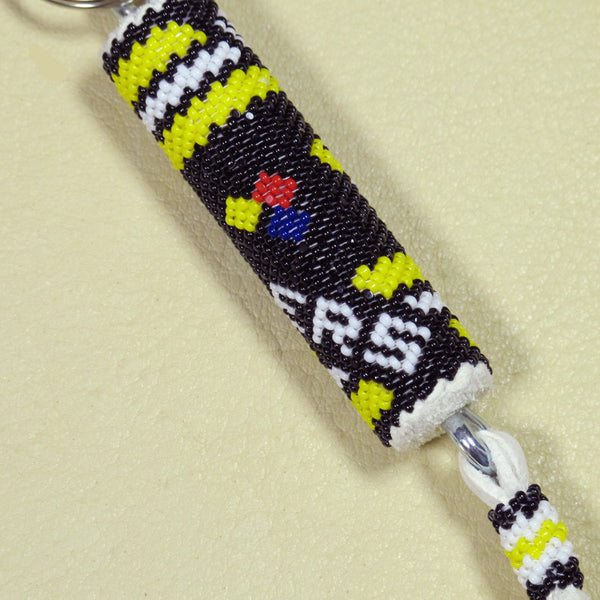 Steelers Beaded Key Chain
