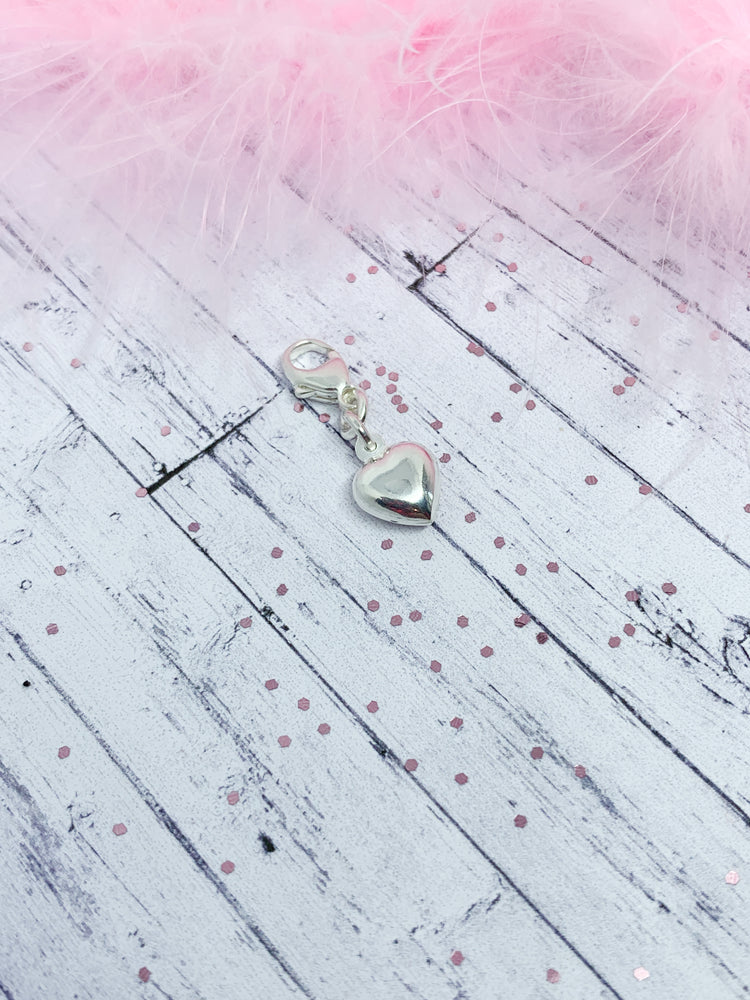 Puffed heart charm - Eve & Flamingo