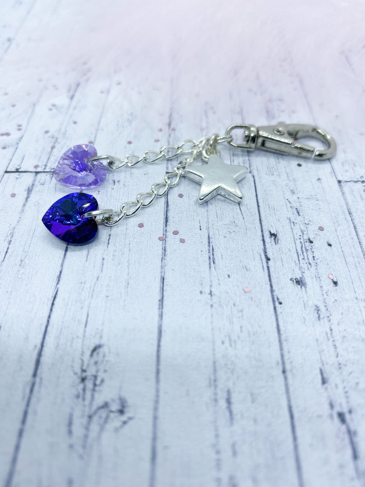 Swarovski and star charm key ring - Eve and Flamingo