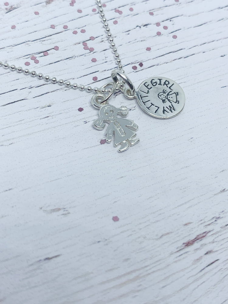 925 Sterling Silver with little boy/little girl keepsakes - Eve & Flamingo