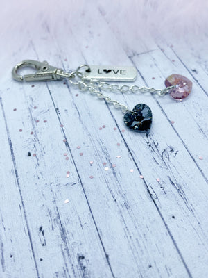 Swarovski keyring - Eve and Flamingo