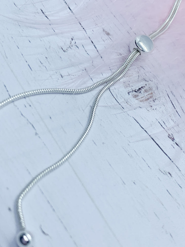 Sliding Necklet - Eve & Flamingo