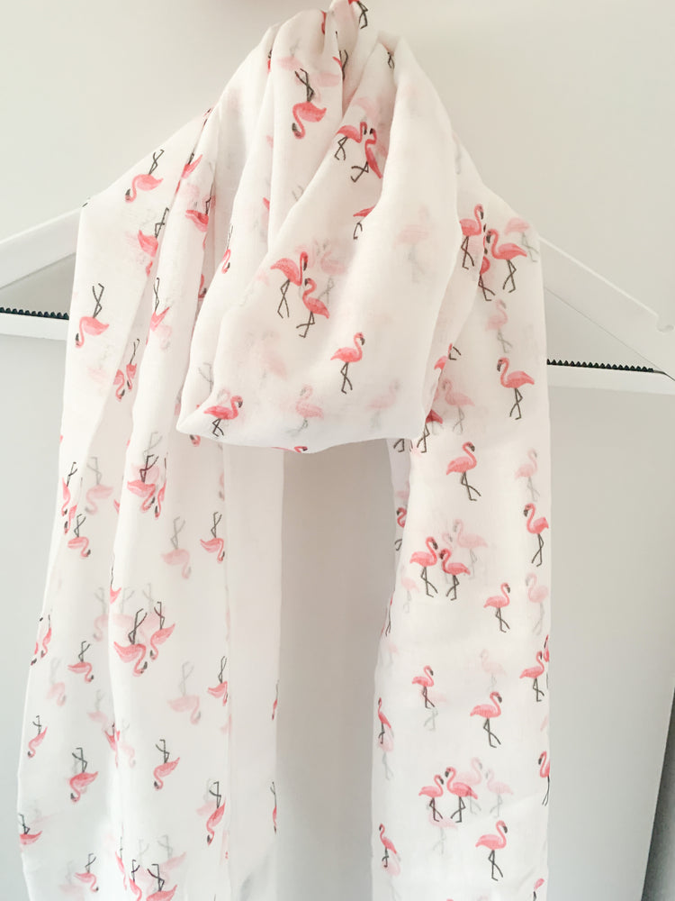 Flamingo sheer scarf - Eve & Flamingo