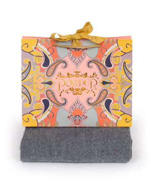 Powder Carolyn Scarf - Grey - Eve & Flamingo