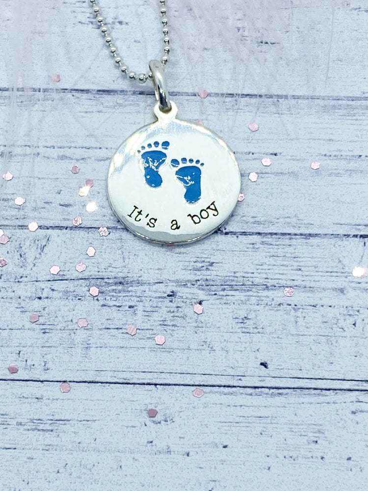 Baby footprints pendant - Eve and Flamingo