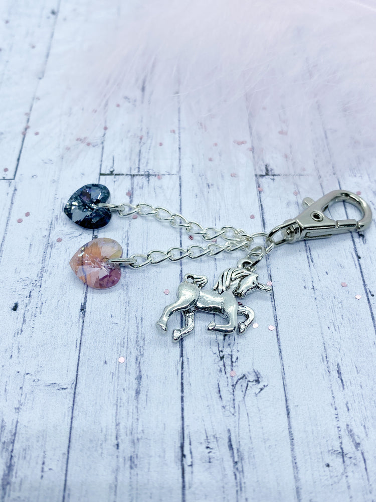Unicorn keyring - Eve and Flamingo