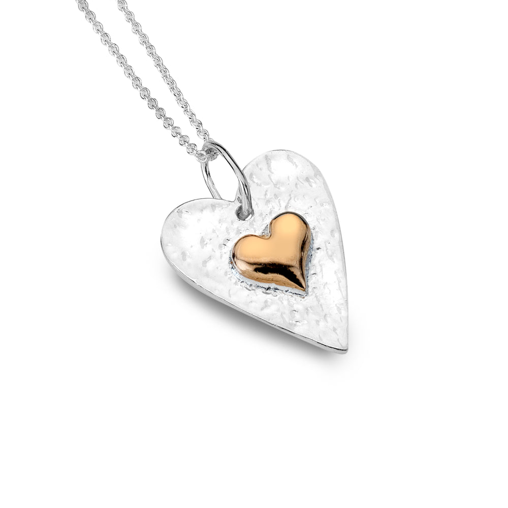 Sterling Silver Heart Pendant and Extender chain
