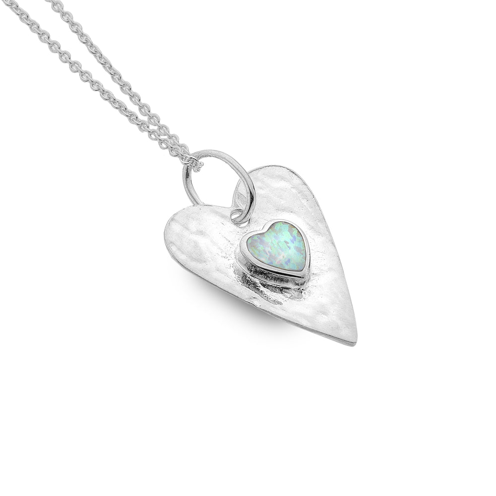 Heart Pendant and Extender Chain