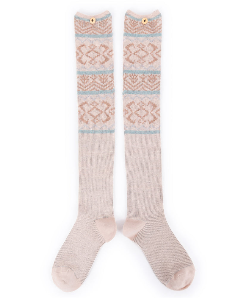 Fair Isle Knee High Socks - Eve & Flamingo
