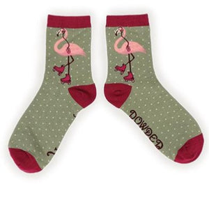 flamingo ankle socks - eve & flamingo