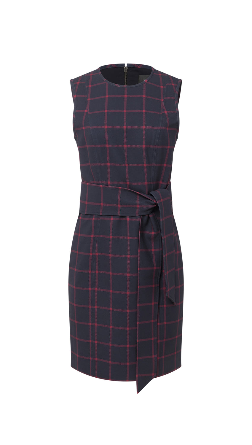 Tie Front Sheath in Midnight + Cranberry