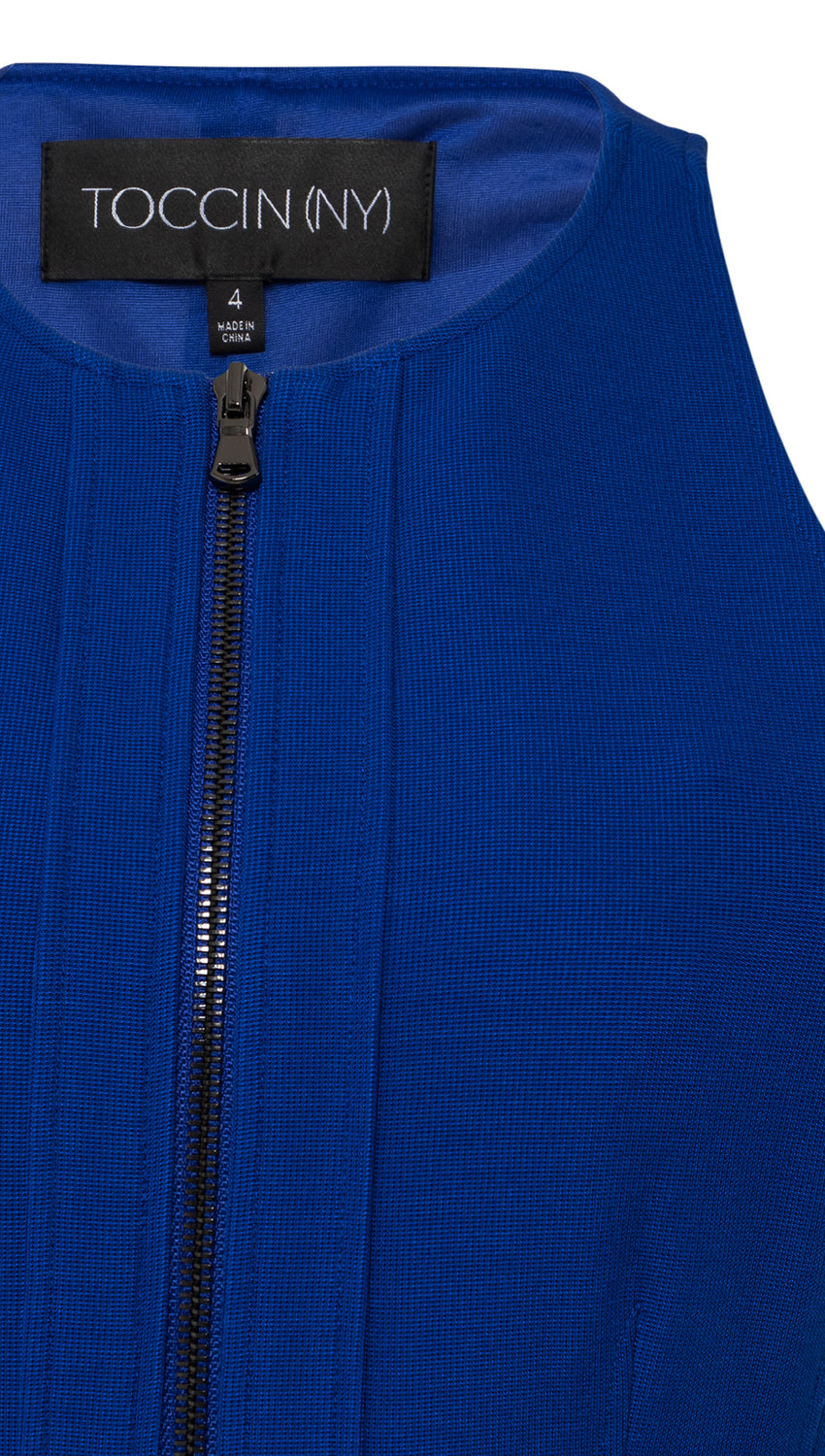 Zip-Front Racer in Cobalt