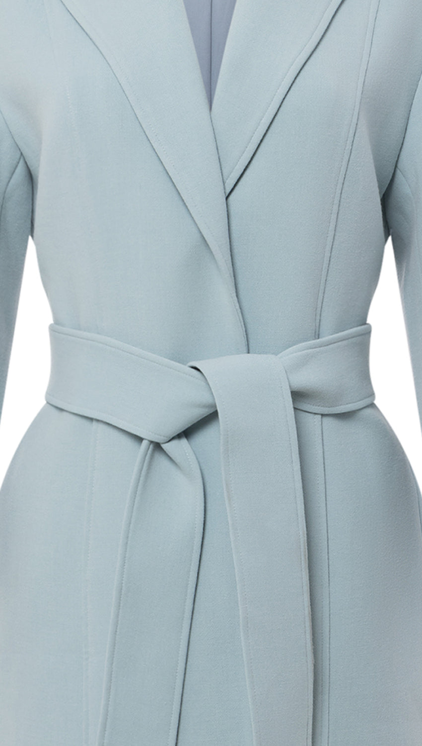Belted Cocoon Coat in Frost