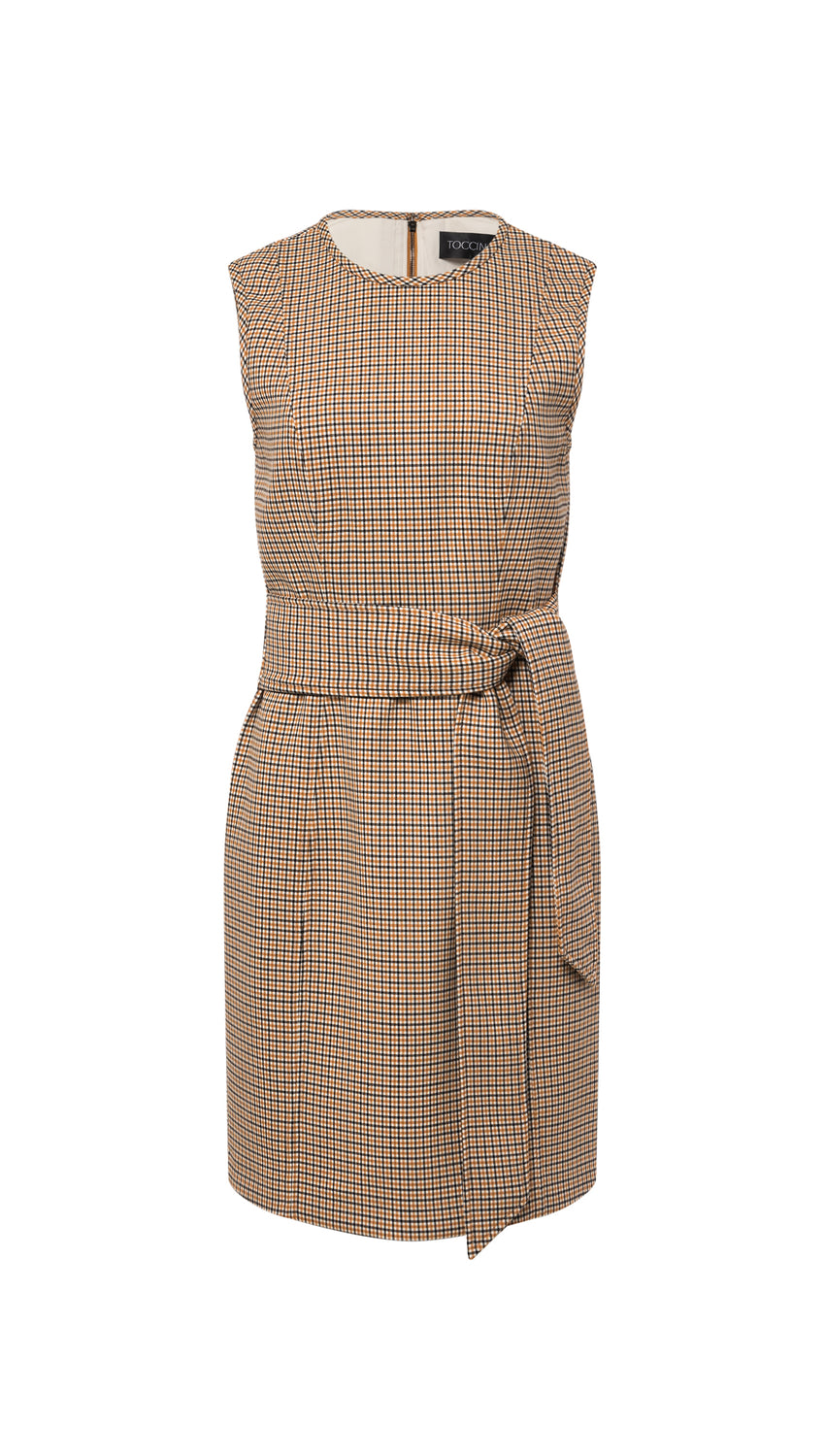 Front Tie Sheath in Mini Check