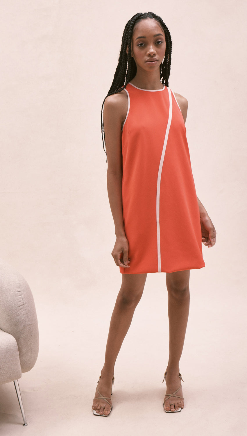 Racer Tank in Hibiscus + Apricot