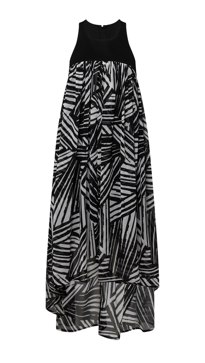 Fly-Away Maxi in Jet + Optic Brushstroke
