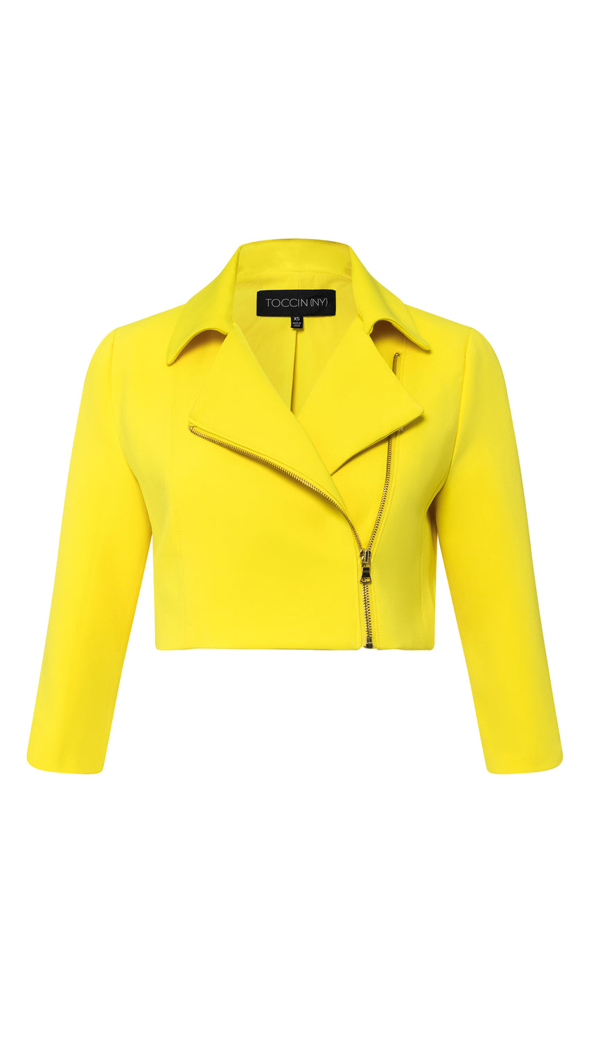 Cropped Moto in Lemon