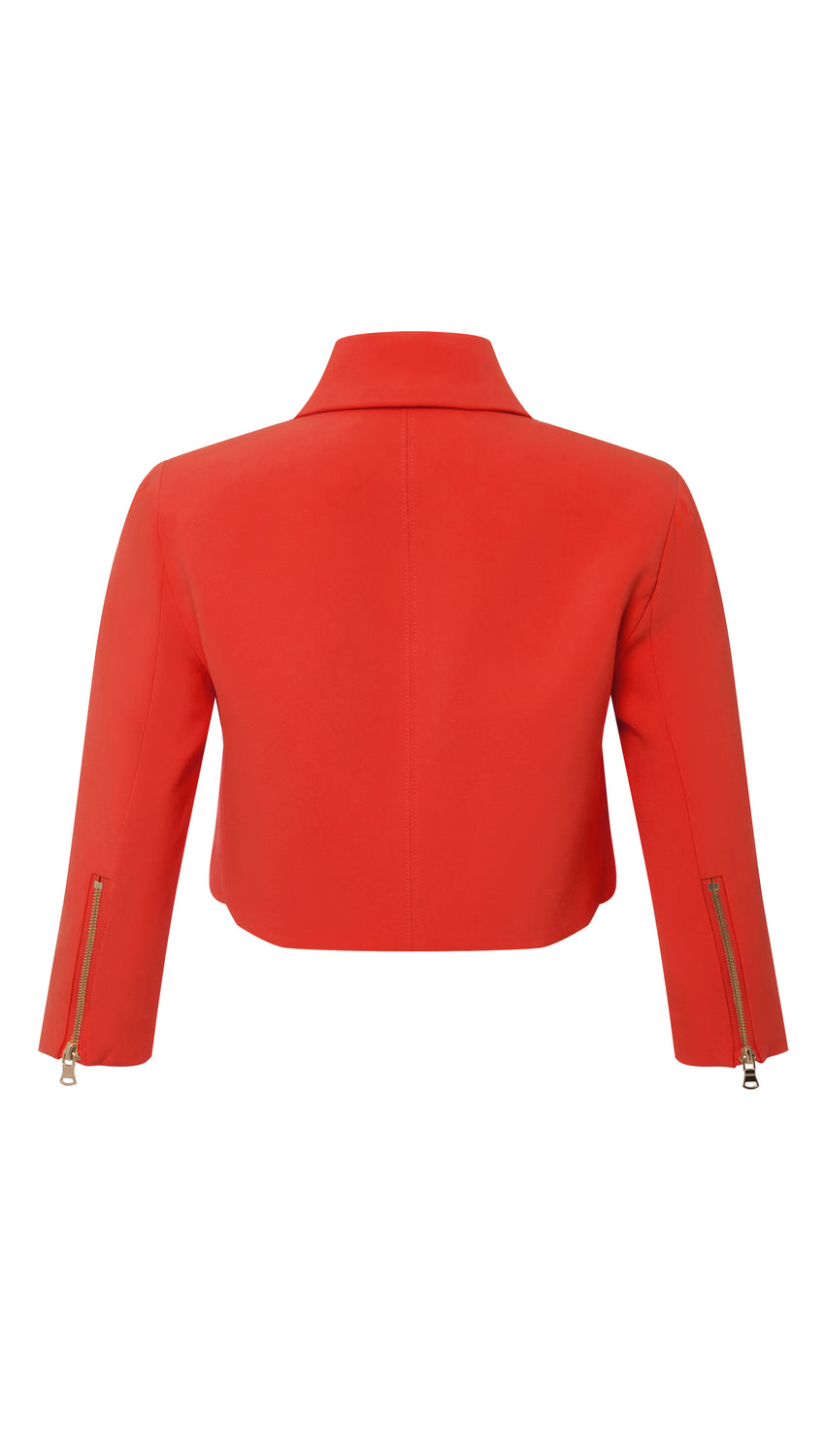 Cropped Moto in Persimmon